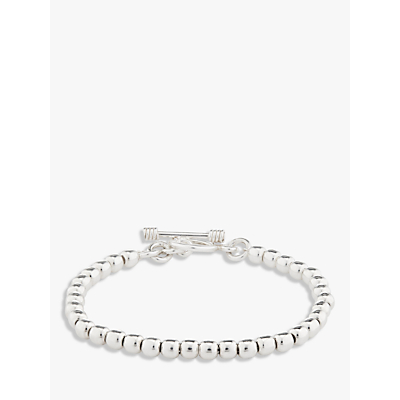 Andea Sterling Silver Ball Bead Bracelet, Silver
