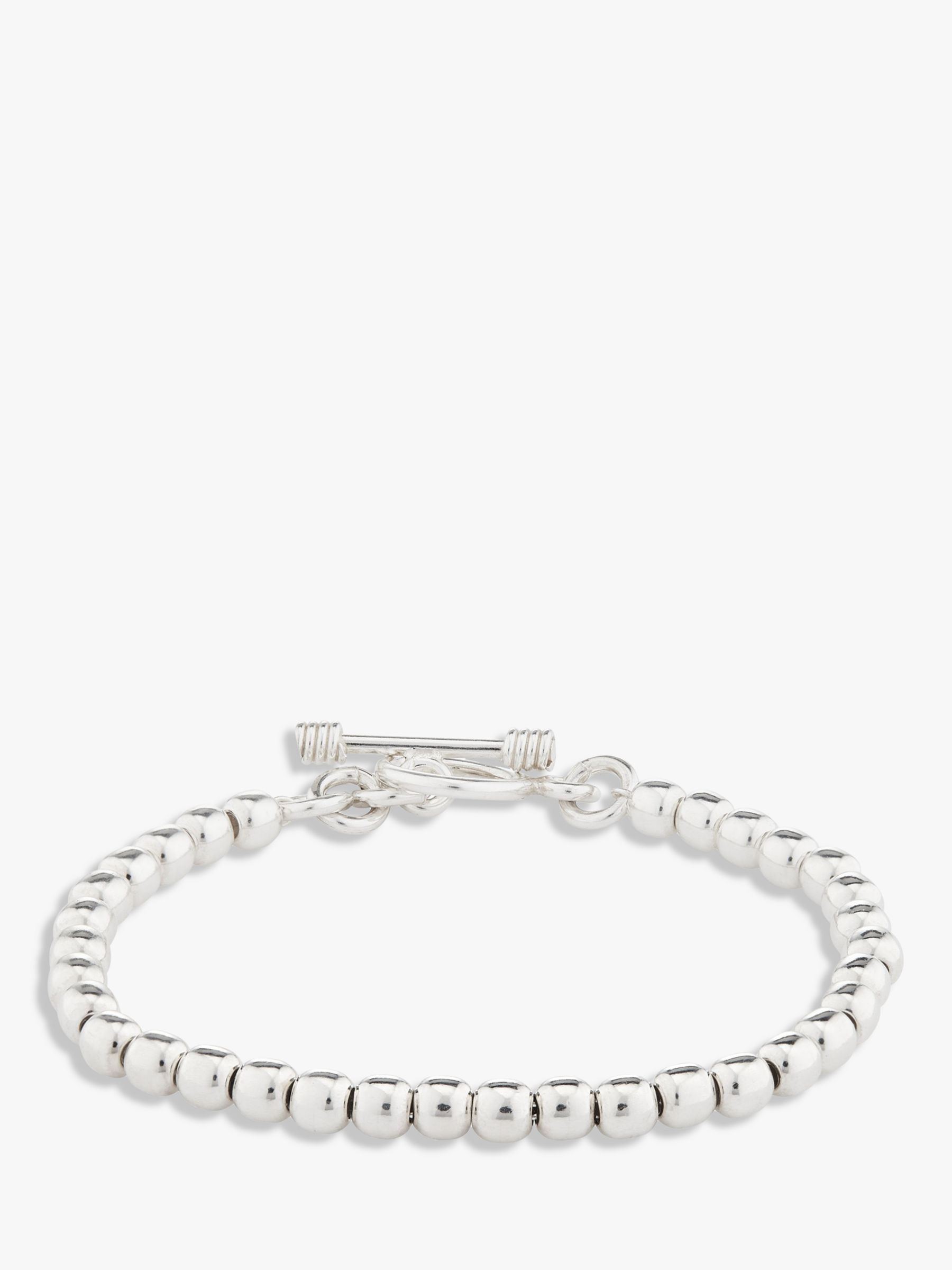 Andea Andea Sterling Silver Ball Bead Bracelet, Silver