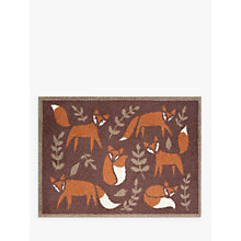 Buy Turtle Mat Folky Foxes Doormat, Brown Online at johnlewis.com