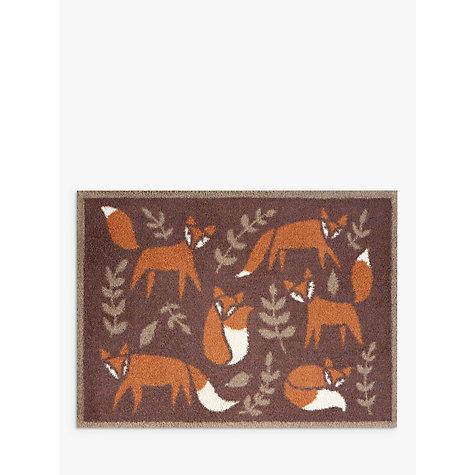 Buy Turtle Mat Folky Foxes Doormat Rug Brown John Lewis