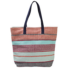 Buy Fat Face Bright Stripe Shopper Bag, Coral Online at johnlewis.com
