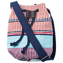 Buy Fat Face Bright Stripe Duffle Bag, Coral Online at johnlewis.com