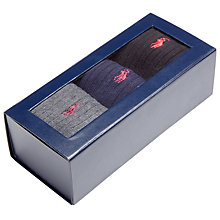 Buy Polo Ralph Lauren Ribbed Cotton Socks, Pack of 3, One Size Online at johnlewis.com