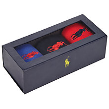 Buy Polo Ralph Lauren Big Pony Sock Gift Box, Pack of 3, One Size, Royal/Red/Navy Online at johnlewis.com