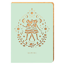 Buy Portico Zodiac Collection A6 Notebook, Gemini Online at johnlewis.com