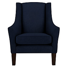 Buy John Lewis Mario Armchair, Dark Legs, Isabella Midnight Online at johnlewis.com