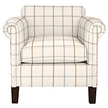 Buy John Lewis Camford Armchair, Dark Legs, Natural William Check Online at johnlewis.com