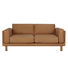 Buy Design Project by John Lewis No.002 Large 3 Seater Leather Sofa, Selvaggio Parchment Online at johnlewis.com