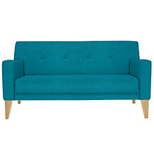 Buy House by John Lewis Louis Small 2 Seater Sofa, Light Legs, Fraser Teal Online at johnlewis.com