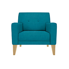Buy House by John Lewis Louis Armchair, Light Legs, Fraser Teal Online at johnlewis.com
