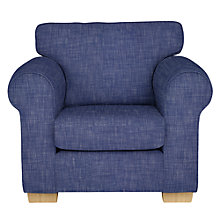 Buy John Lewis Milford Armchair, Light Legs, Solva Blueprint Online at johnlewis.com