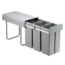 Buy Wesco Triple Pull-Out Kitchen Bin, 30L Online at johnlewis.com