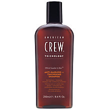 Buy American Crew Anti-Hairloss + Thickening Shampoo, 250ml Online at johnlewis.com