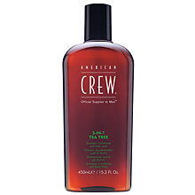 Buy American Crew 3-In-1 Tea Tree Shampoo, Conditioner & Body Wash, 450ml Online at johnlewis.com