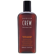 Buy American Crew Power Cleanser Style Remover Shampoo, 250ml Online at johnlewis.com