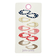 Buy John Lewis Children's Mini Click Clack Clips, Pack of 10, Multi Online at johnlewis.com