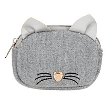 Buy John Lewis Girls' Cat Purse, Silver Online at johnlewis.com