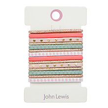 Buy John Lewis Hair Bobbles, Pack of 14, Multi Online at johnlewis.com