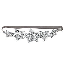 Buy John Lewis Girls' Elastic Star Headband, Silver Online at johnlewis.com
