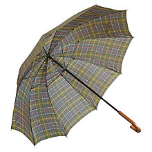 Buy Barbour Large Tartan Golf Umbrella, Classic Online at johnlewis.com
