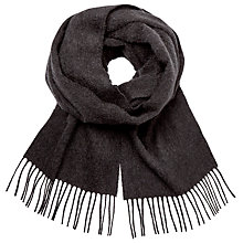 Buy Johnstons of Elgin Plain Cashmere Scarf, Charcoal Online at johnlewis.com