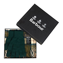 Buy Barbour Lambswool Scarf and Gloves Gift Set Online at johnlewis.com