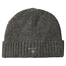Buy Gant Lined Rib Beanie, One Size Online at johnlewis.com