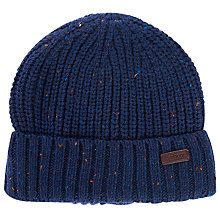 Buy Barbour Langley Beanie, One Size, Navy Online at johnlewis.com