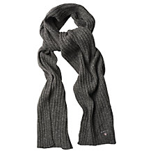 Buy Gant Lambswool Cotton Ribbed Scarf Online at johnlewis.com