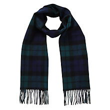 Buy Barbour New Check Tartan Scarf, Black Watch Online at johnlewis.com