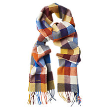 Buy Gant Lambswool Check Scarf, Sunflower Yellow Online at johnlewis.com