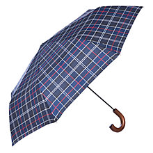 Buy Barbour Tartan Telescopic Umbrella, Navy Online at johnlewis.com