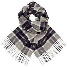 Buy Johnstons of Elgin Cashmere Check Scarf, Grey Online at johnlewis.com