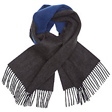 Buy Johnstons of Elgin Contrast Reversible Cashmere Scarf, Grey/Blue Online at johnlewis.com