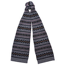 Buy Barbour Martingale Fair Isle Lambswool Scarf, Grey Online at johnlewis.com