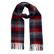 Buy Barbour Banbury Tattersall Lambswool Scarf, Blue Online at johnlewis.com