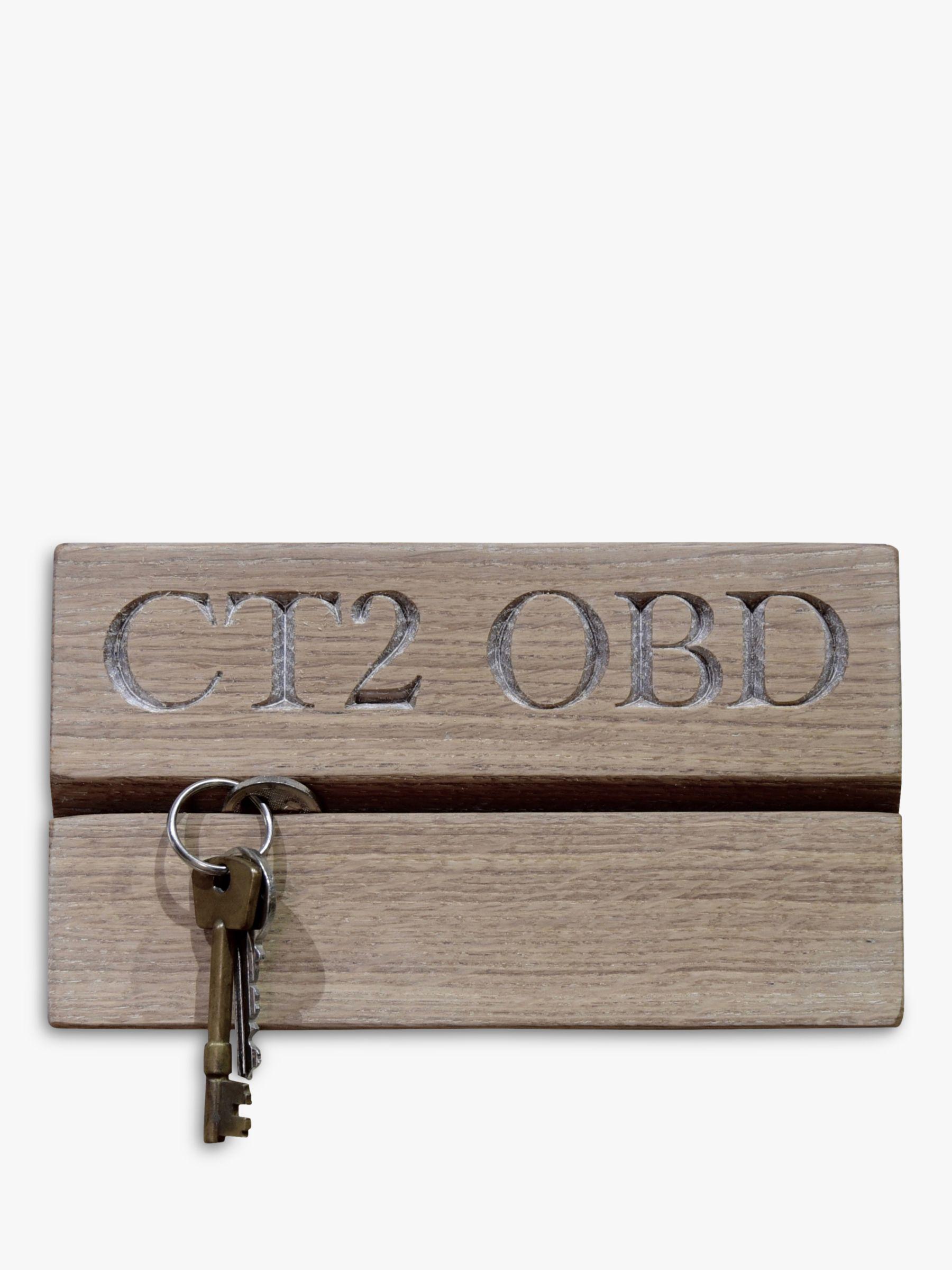 The Oak And Rope Company The Oak And Rope Company Personalised Postcode Key Organiser