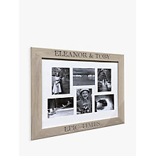 Buy The Oak And Rope Company Personalised Multi-aperture Frame, Oak Online at johnlewis.com