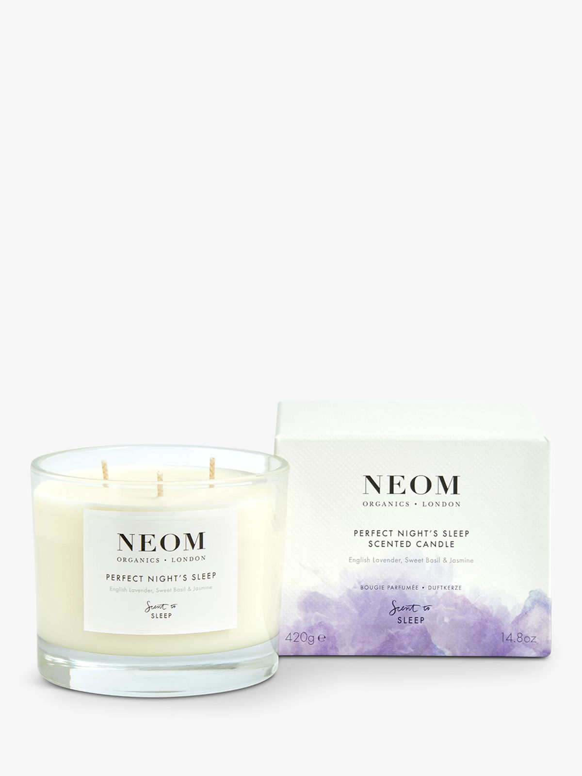 Neom Neom Tranquility 3 Wick Candle, 420g