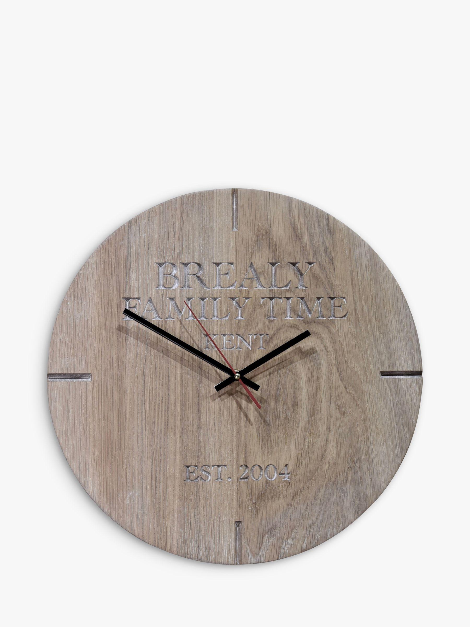 The Oak And Rope Company The Oak And Rope Company Personalised Oak Clock