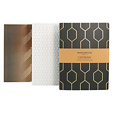 Buy Wedgwood B5 Notebooks, Pack of 3 Online at johnlewis.com