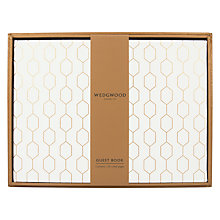 Buy Wedgwood Guest Book, White Online at johnlewis.com