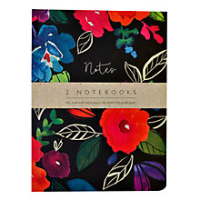 Buy Portico A5 Bold Floral Notebooks, Pack of 2 Online at johnlewis.com