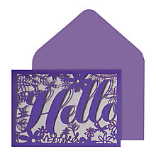 Buy Portico Laser Cut Hello Notecards, Pack of 10 Online at johnlewis.com