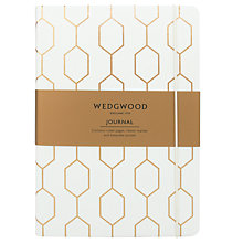 Buy Wedgwood Foiled Journal, White Online at johnlewis.com