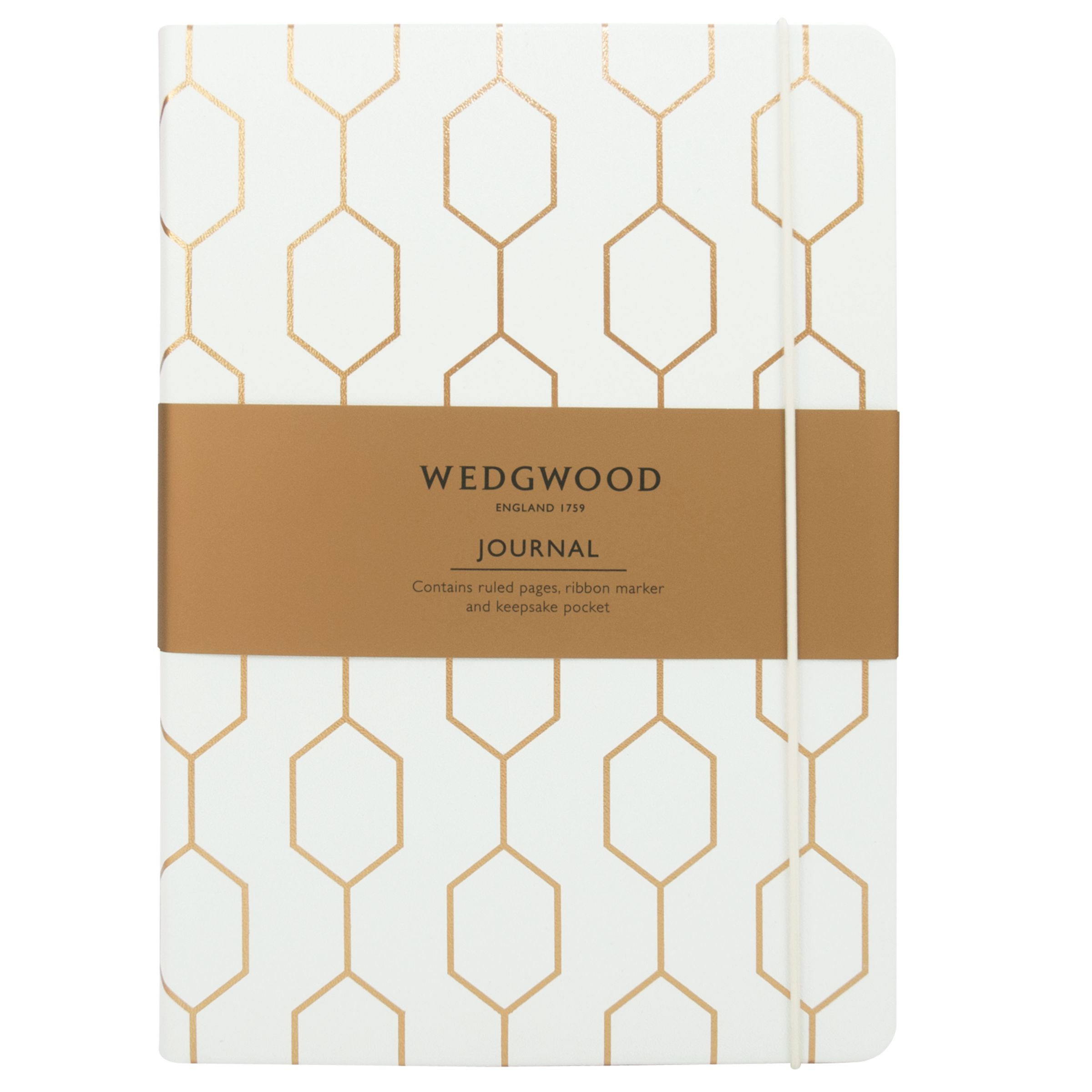 Wedgwood Wedgwood Foiled Journal, White