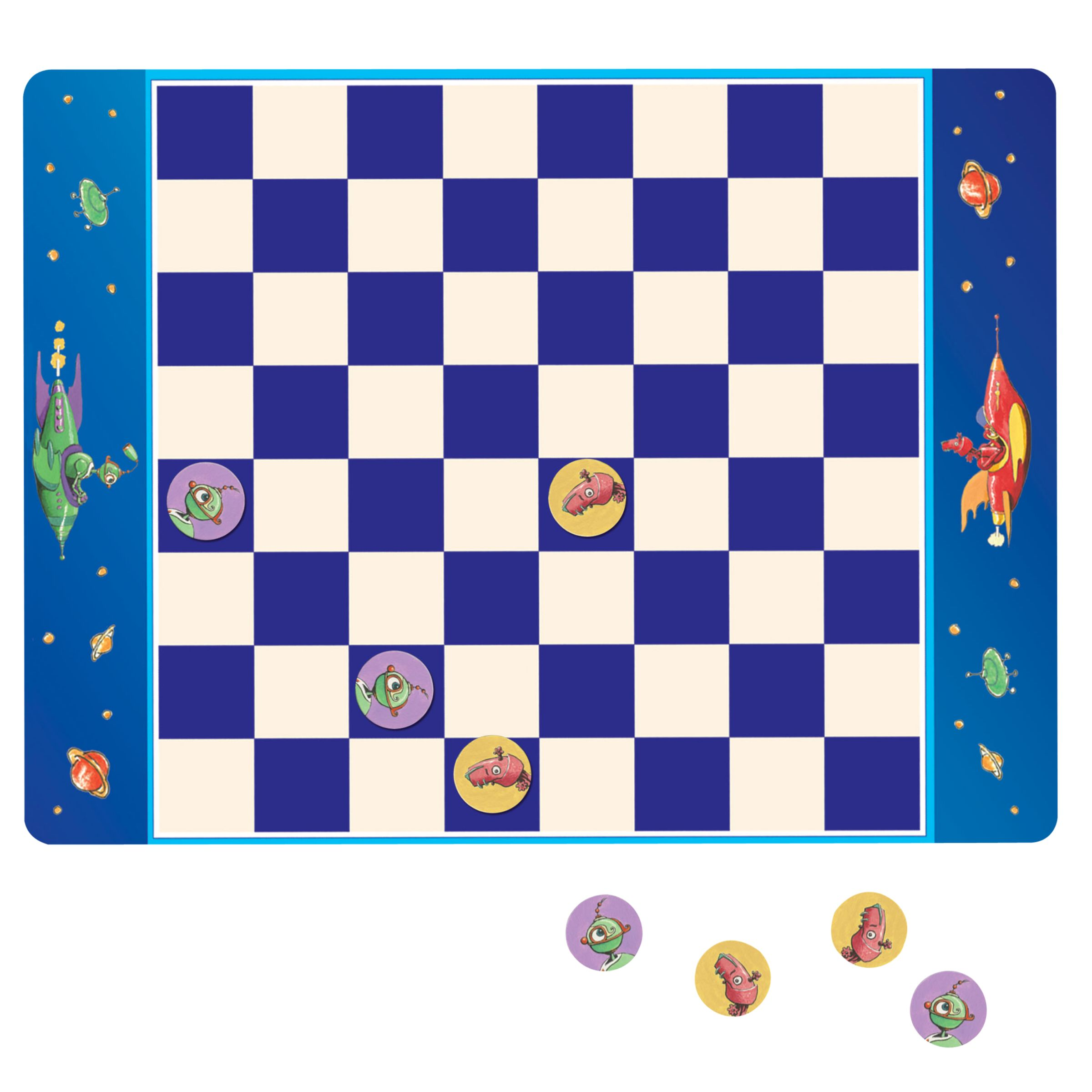 Eeboo Eeboo Robot Checkers Magnetic Game