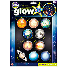 Buy Cosmic Glow in the Dark 3D Planets Set Online at johnlewis.com