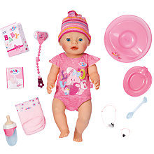 Buy Zapf BABY Born Interactive Doll, Girl Online at johnlewis.com