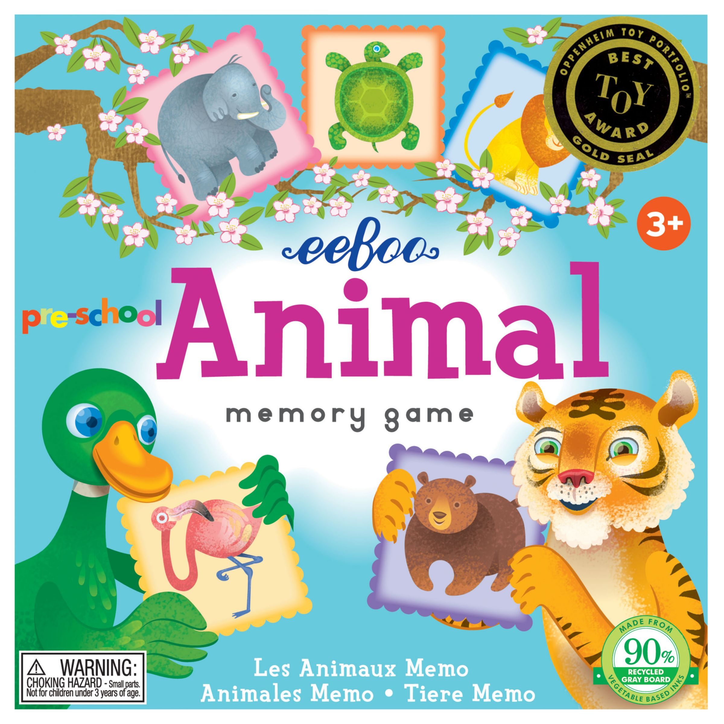 Eeboo Eeboo Animal Memory Game